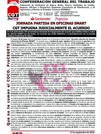 CGT impugna el acuerdo SMART